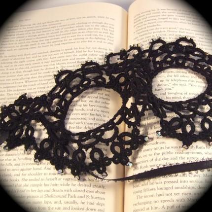 Tatted mask handmade mask