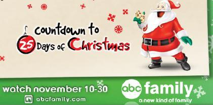 the program list is filled with previous abc family christmas movies as well as some other family favorites it all begins this coming tuesday heres the - Abc 25 Days Of Christmas