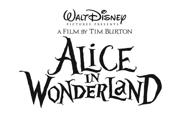 Alice in Wonderland logo Tim Burton