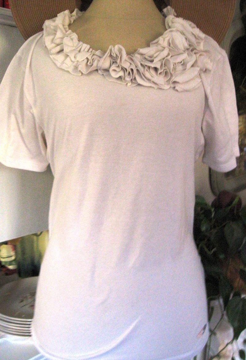 White refashioned tee