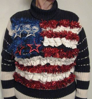 Ugly Christmas Sweater Flag