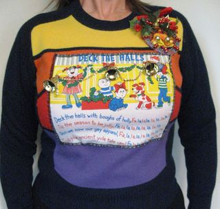 Ugly Christmas Sweater Deck the Halls