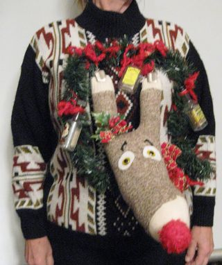 Ugly Christmas Sweater DUI Rudolph